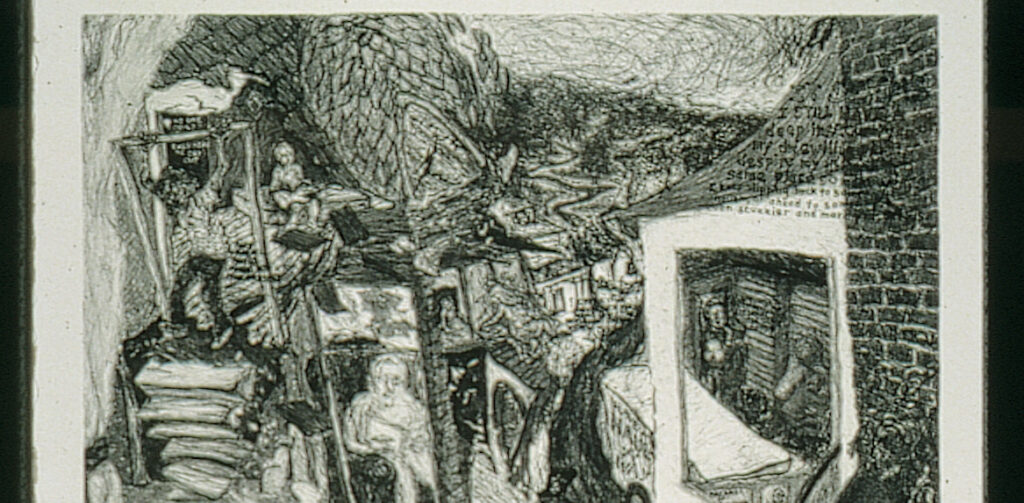 Dream Suite (detail) lithograph diptych.